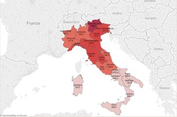 Cartina Italia Trentino Alto Adige.Ecco La Mappa Regionale Dell Italia Dello Sport Medaglia D Oro Al Trentino Alto Adige Il Punto Sportivo