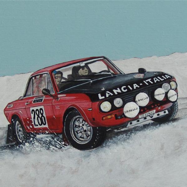 Cartoline da Montecarlo, le opere di Nando Crippa dedicate al 22° Rallye Monte-Carlo Historique